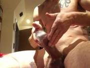 Pumping mi cock hard and masturbating its so HOT Hope you like it