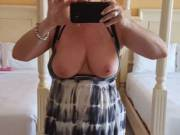 Mrs Ikpm sending me a quick pic from vacation, I miss those beautiful tits already. hurry home beautiful.