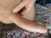 That's about as big as I go, just prior to cumming.....want to see me cum?
