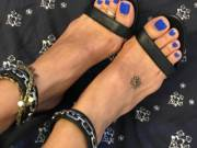 I like to see my husband's cum all over my feet in my best heels
