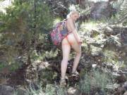 Went on a little Hike in the mountains.....I love going Braless or just going like this lol.