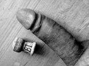 """love to show my hardened shaft... makes a very good """"cork""""... any one needing some holes wonderfully plugged?"""