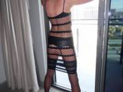 Showing off thru the windows....are you peeping?....
