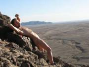 Enjoying the warm sun on my naked body,,,,great time hiking,,,,company welcome