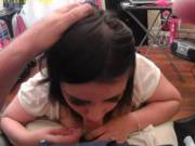 Young Latina loves cock sucking. Very submissive. Maybe she was not all there, I don't know.