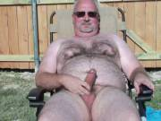 Jacking off in the backyard