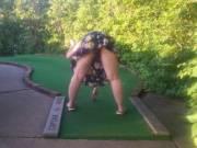 playing some mini golf