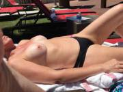 Trying to get a fuller tan at pool in Vegas.  Do you like?