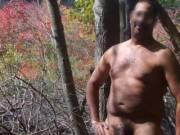 Enjoying being naked in nature!