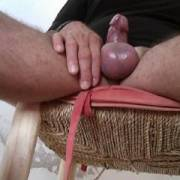 Bottom view of my hard dick