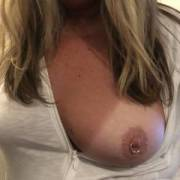 Wife flashing her sexy boobs