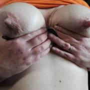 My wife's milky titts