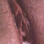 My wifes pussy after I shot a load in her.