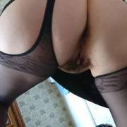 Wife with heels and stockings a Thursday morning