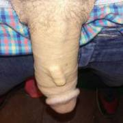 My dick and my porclin insert