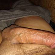 I pushed out some cum and then rubbed it all over my still hard dick. Can you guess what I did next? LOL