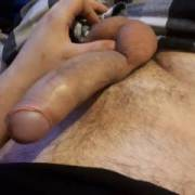 Nice hard dick ready for any woman to cum ride. Any takers?