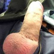 At the train - my hard dick out ;)