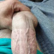Stroking my dick before I fucked my gf