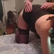 The wife getting her weekly spanking! Who wants to spank and fuck her next??