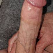 Lubed ready to cum hard dick cock close-up