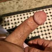 love it when cum glistens on my dick and its' not mine