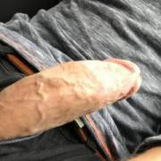 On my way home after work I got so horny I had to stop and playing with my hard dick in my car ;)