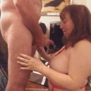 Unloading on those great tits of my wife. She loves hot cum. Watch our videos for the wife's fantastic blow job.