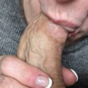 A nice reward from my wife while on vacation. I love feeling her lips and tongue around my old cock😏