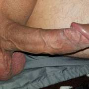 Stiff dick and hanging balls