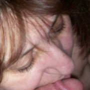 Wife serving my cock