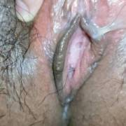 Open up my legs for you to show you how horny and wet my pussy is