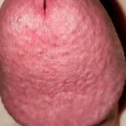 Big dick head close-up