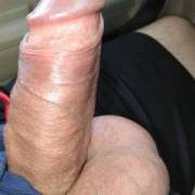 Flashing my uncut dick while driving