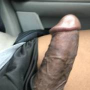 Driving with my dick out