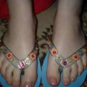 wife beach flip flops