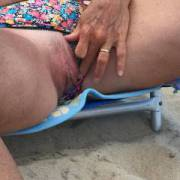 She gets horny on the beach
