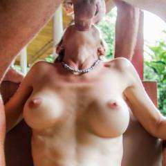 One of my favorite position for blowjob. Because naturally my dick enters deep... And when I'm with girlfriend that don't want to show her face in a photo of blowjob that's perfect. And the tits keep in a nice position.
