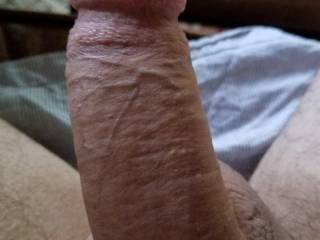 In my profile, I said my cock was average width. Thoughts?