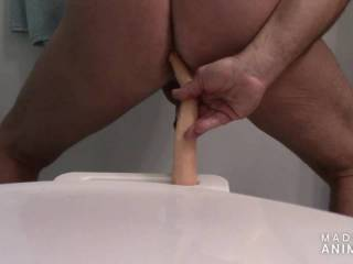 I prefer when a woman handles the dildo but when you get the urge to be penetrated sometimes a guy got to take things into his own ass.