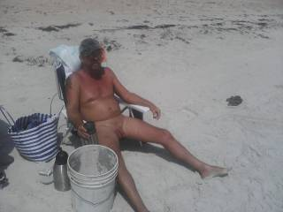 wish i was between your legs sucking your cock while you relax on the beach