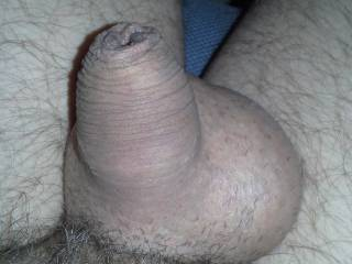 Love the foreskin and shaved little balls.