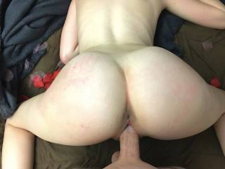 His going in !!!! that feeling of that hard big cock while hubby watch turn me hot !!!!