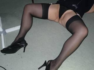 New black dress and panties.