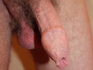 Floppy dick and loose balls both hanging and waiting.