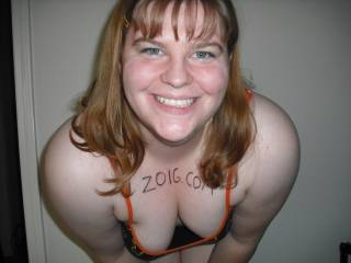 No hun its just right to show off in! And you look great in it! what a great smile you have not to mention those great tits of yours!