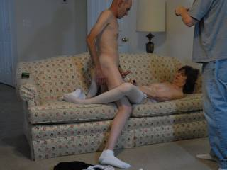 His wife and I masturbating together for him to watch and video