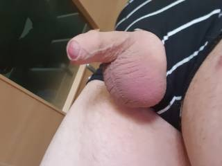 My shaved soft cock