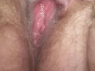 Kiki sending me pics of her hairy little pink pussy last night. Do you think we should wax or shave her pussy or leave it hairy?