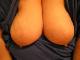 wow hun love your big titties andcute nipples ,would luv to suck them hun...peter in uk